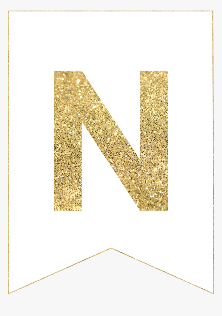 Gold Free Printable Banner Letters, HD Png Download ...