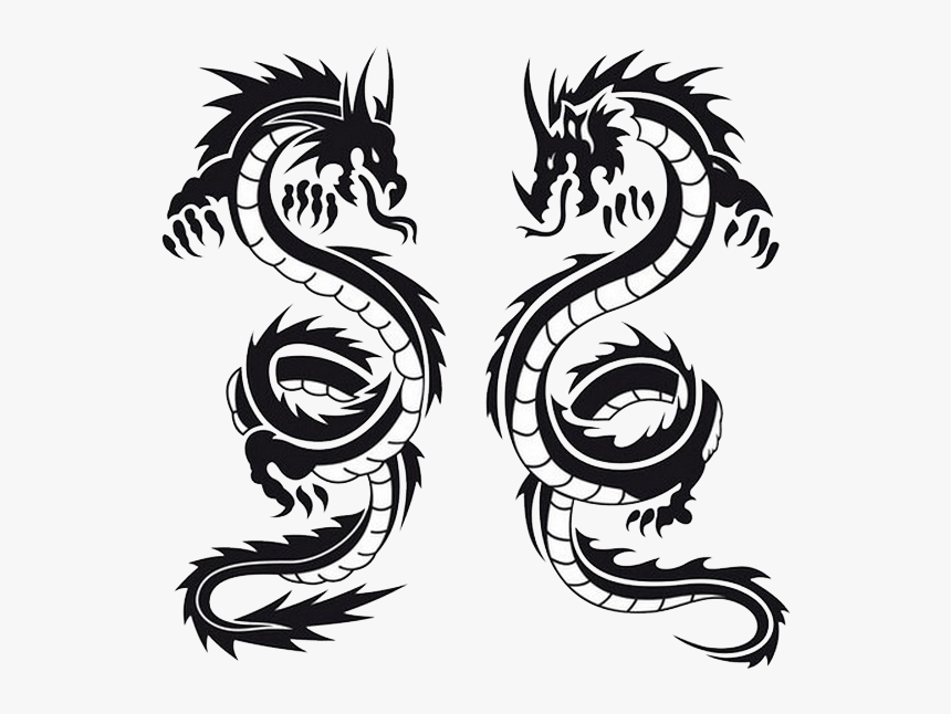 Dragon Double Tattoo Clip Arts Dragon Tattoos Hd Png Download