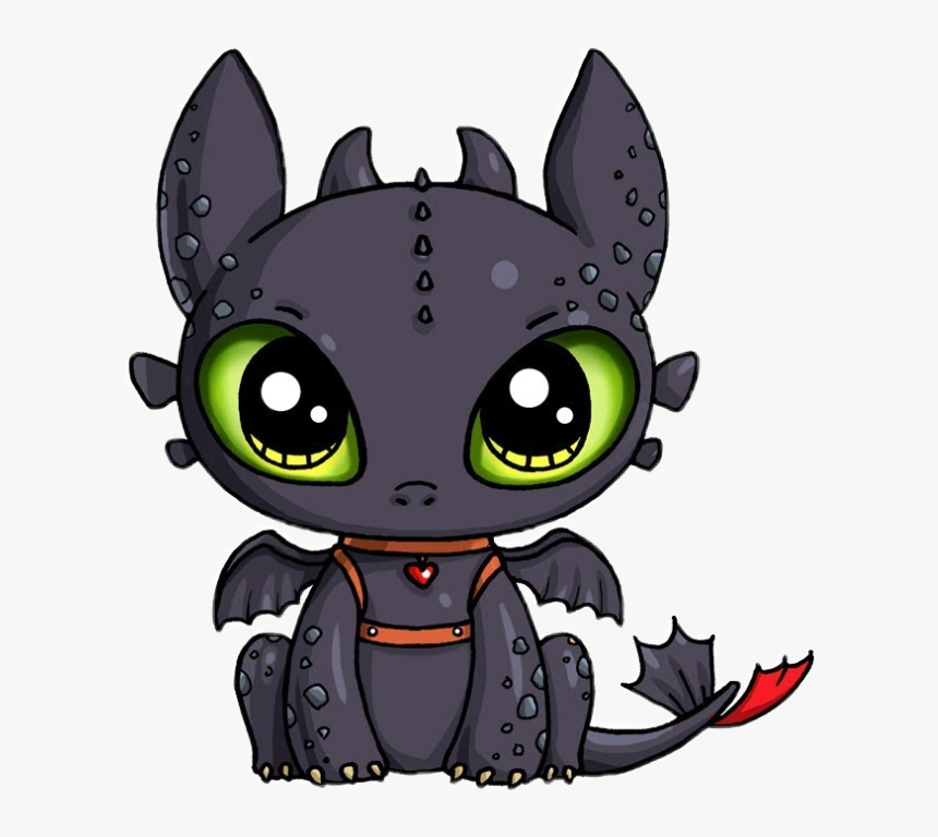 Dragon Cute Black Freetoedit Toothless Draw So Cute Hd Png Download Transparent Png Image Pngitem