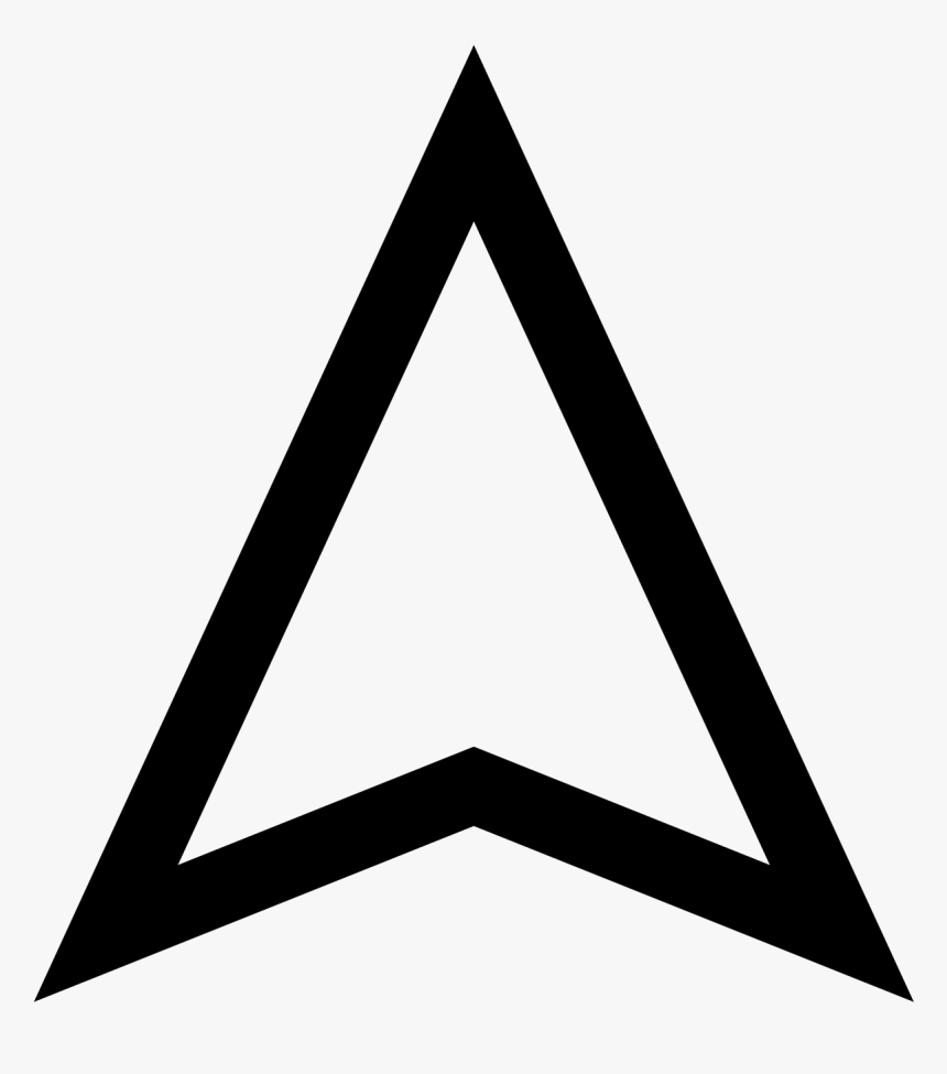 Clip Art Google Maps Arrow Icon White Arrow Up Png Transparent