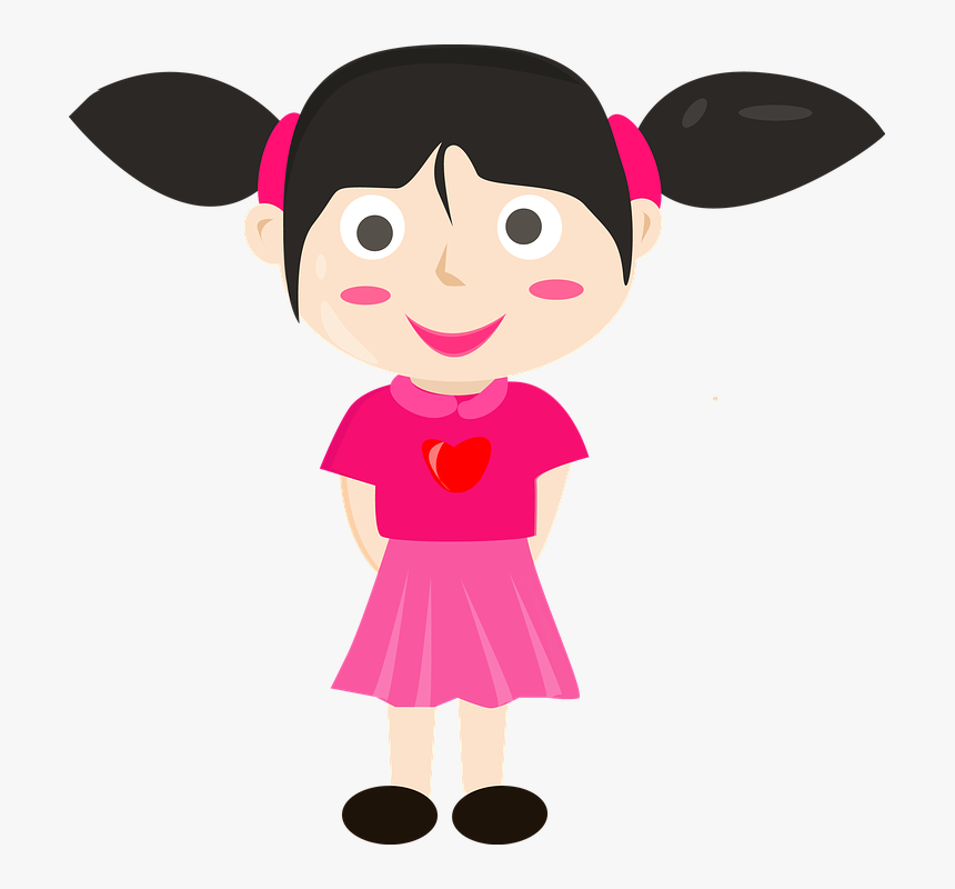 Lady Cartoon Vector Kids Gambar Kartun Anak Perempuan Hd Png Download Transparent Png Image Pngitem