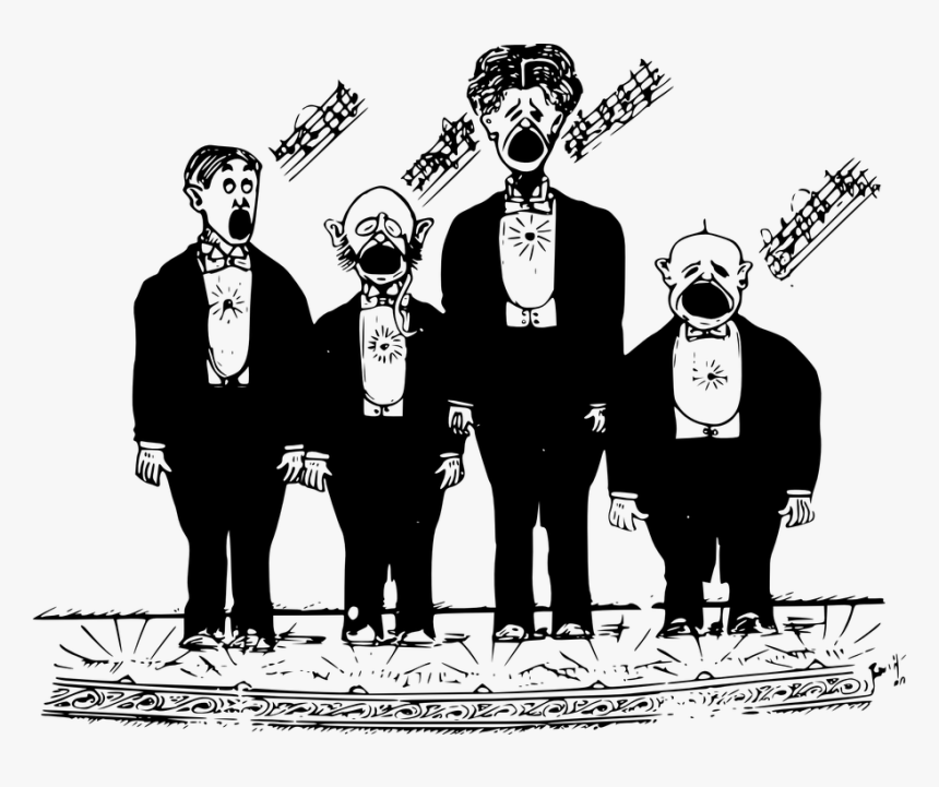 Vector Black And White Stock Cartoon Clip Art Take - Singing Images Clip Art  - Png Download (#322609) - PinClipart