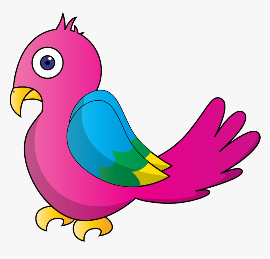 Bird Parrot Clipart At Free For Personal Use Transparent Pink Parrot Clip Art Hd Png Download Transparent Png Image Pngitem