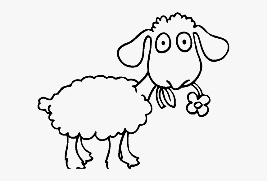 Adult Sheep Coloring Pages Coloringstar Eating ...