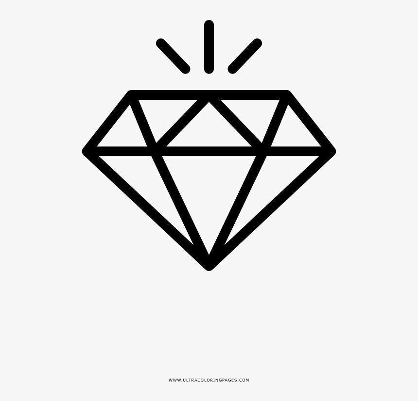 Clip Art Diamante Para Colorir Ultra Gold Diamond Clipart Png