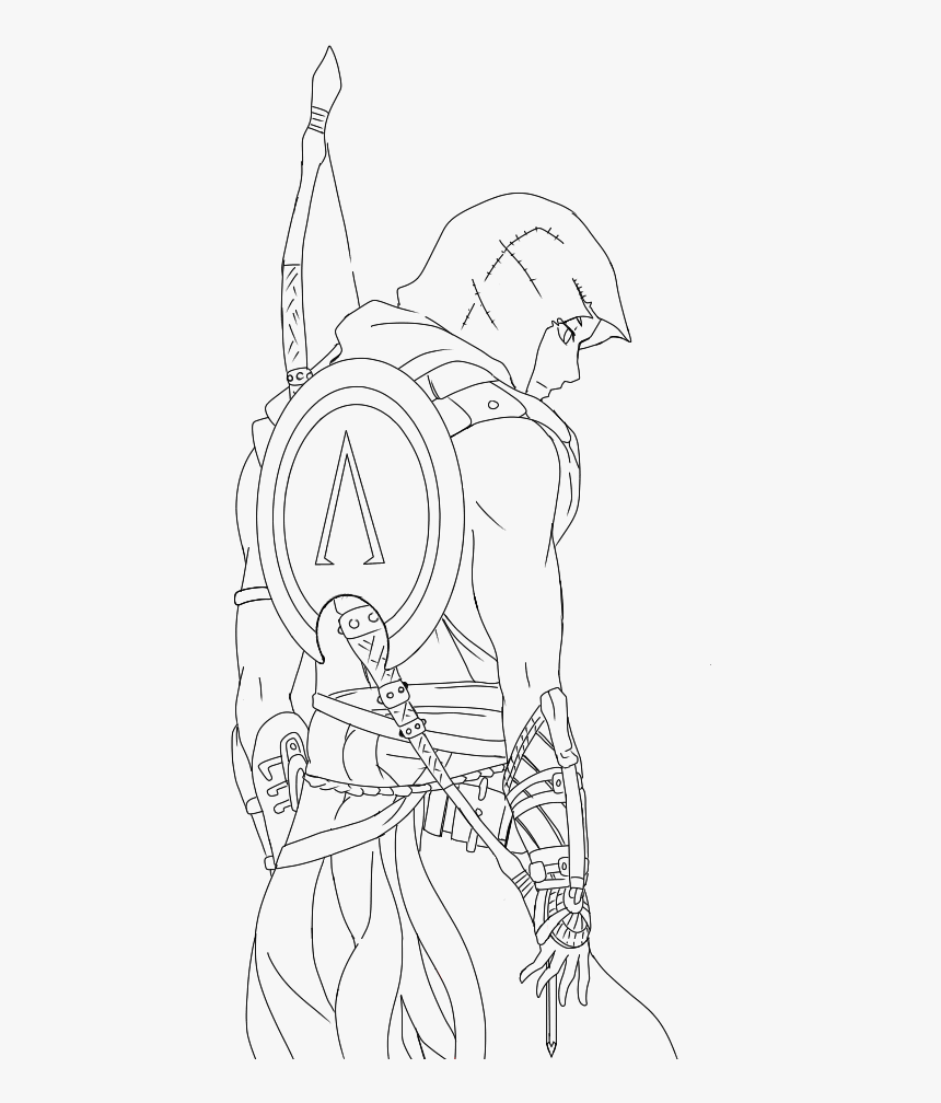 Assassin S Creed Origins Bayek Drawing Hd Png Download Transparent Png Image Pngitem