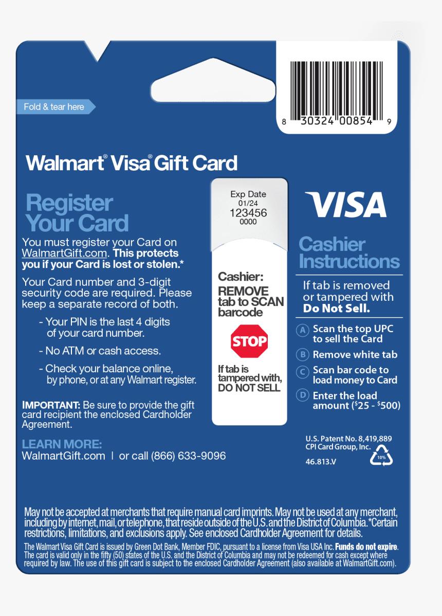 walmart visa debit card balance