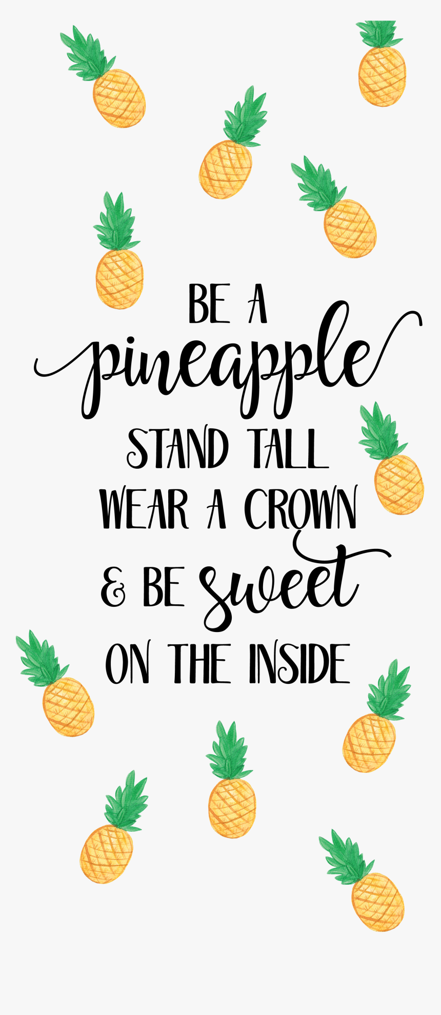 289 2890997 pineapple wallpaper quotes hd png download