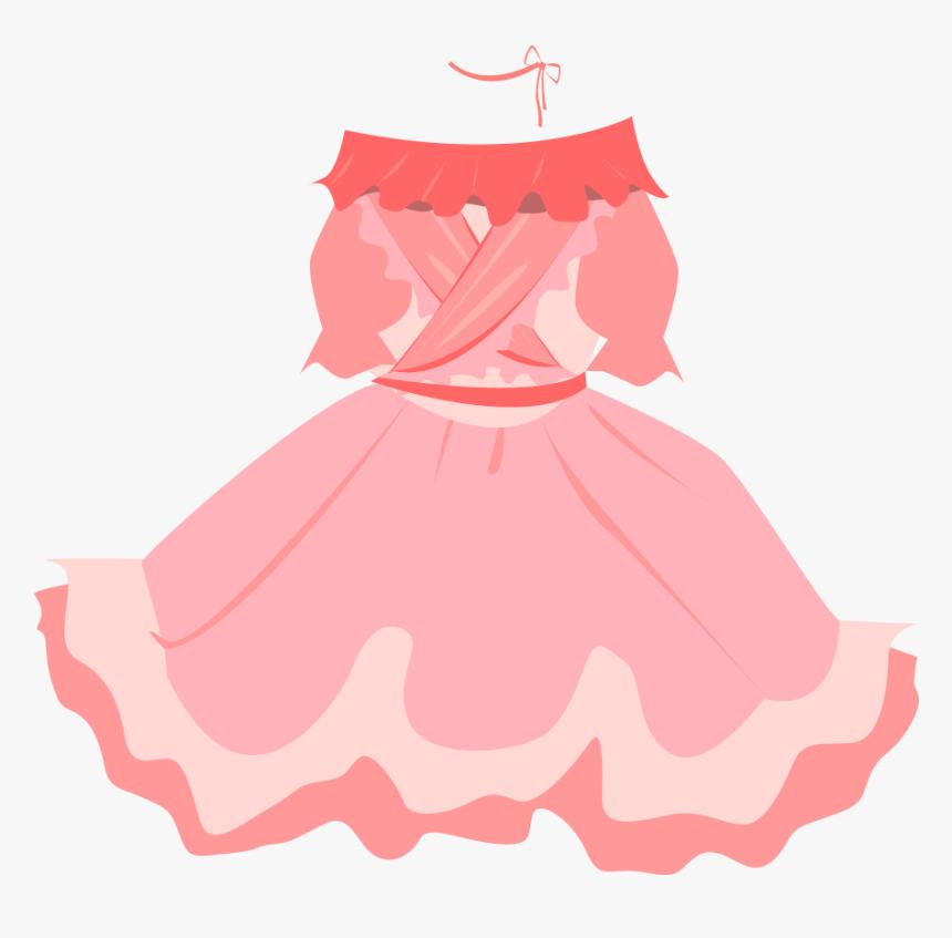 transparent princess dress cartoon