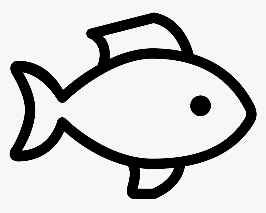 Seafood Drawing Basic Black And White Fish Icon Hd Png Download Transparent Png Image Pngitem