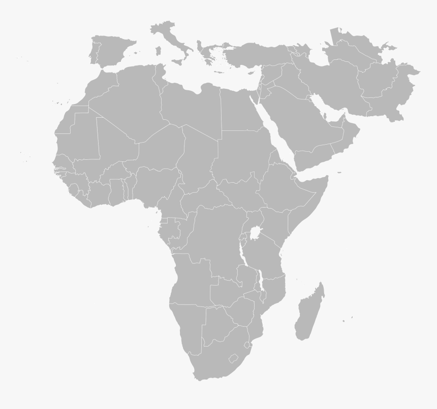 Blank Map Of Africa And Asia Blank Map Png   Africa And Asia Map Png, Transparent Png