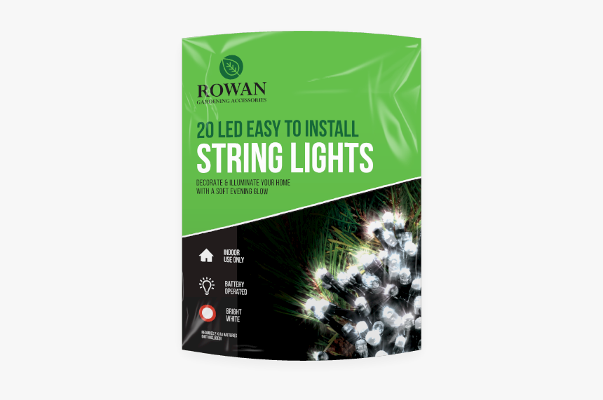 White Led String Lights Christmas Tree Hd Png Download