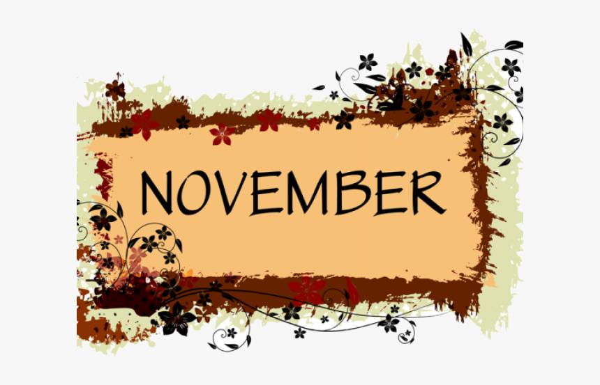 November Clipart Images Banner Border Black And White November Clipart Free Hd Png Download Transparent Png Image Pngitem
