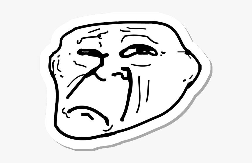 Meme Sticker Messages Sticker 9 Sad Troll Face Png Transparent Png Transparent Png Image Pngitem