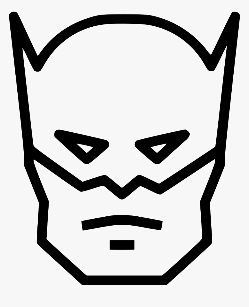 Batman Humanoid Superhero Emoticon Hero Hitam Putih HD
