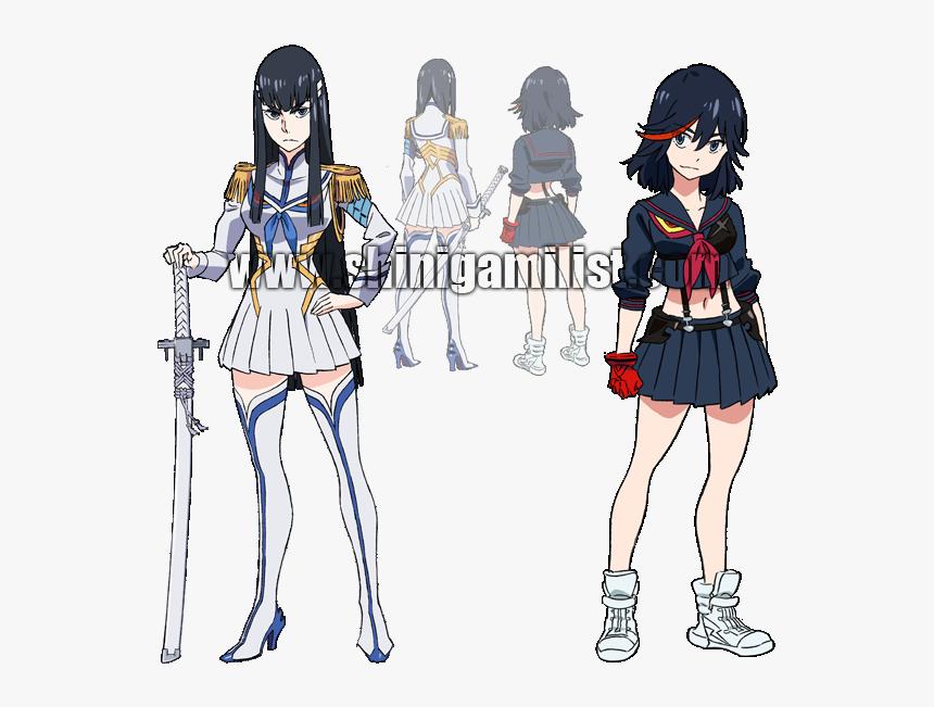 Ryuko Matoi Character Sheet Kill La Kill Satsuki Costume