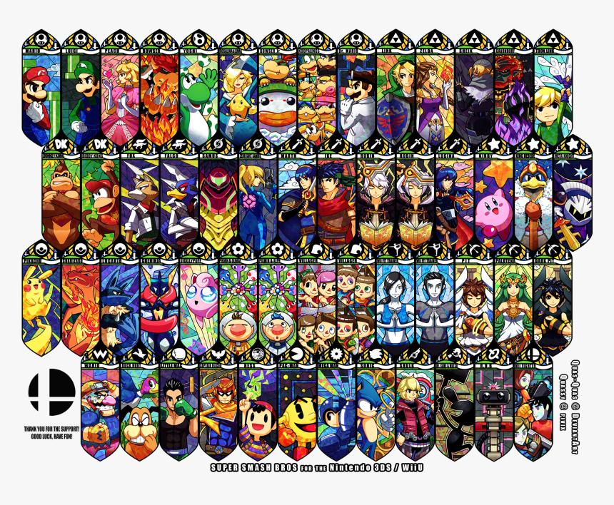 Super Smash Brothers Video Games Nintendo Wallpaper Smash Bros Characters Art Hd Png Download Transparent Png Image Pngitem