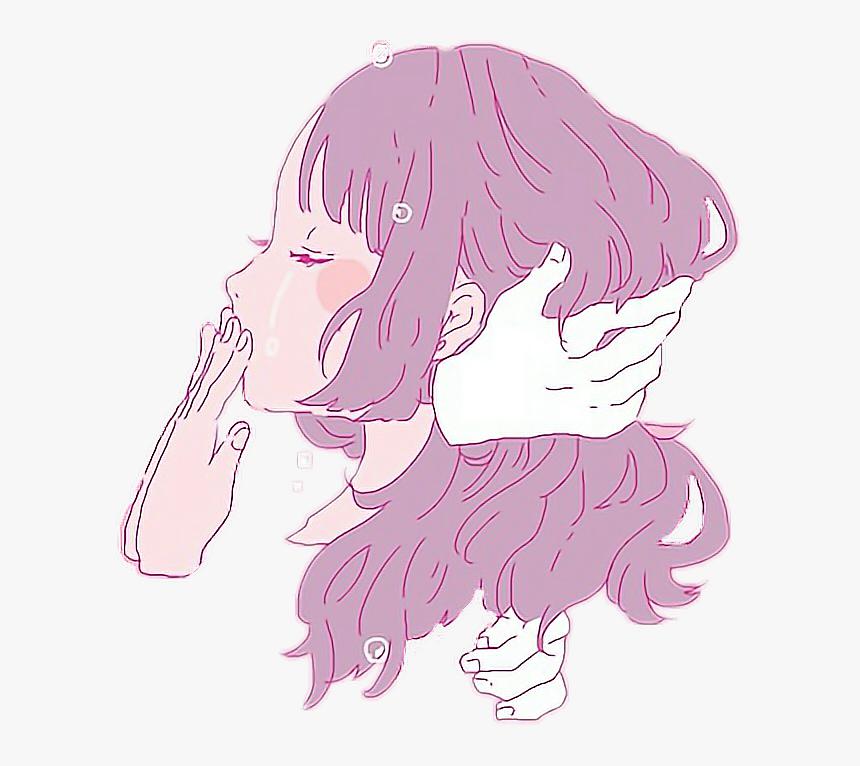 Animegirl Japan Purple Tear Japanese Aesthetic Wallpaper Desktop