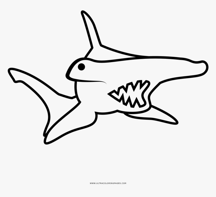 Hammerhead Shark Coloring Page - Tiburón Martillo Para ...