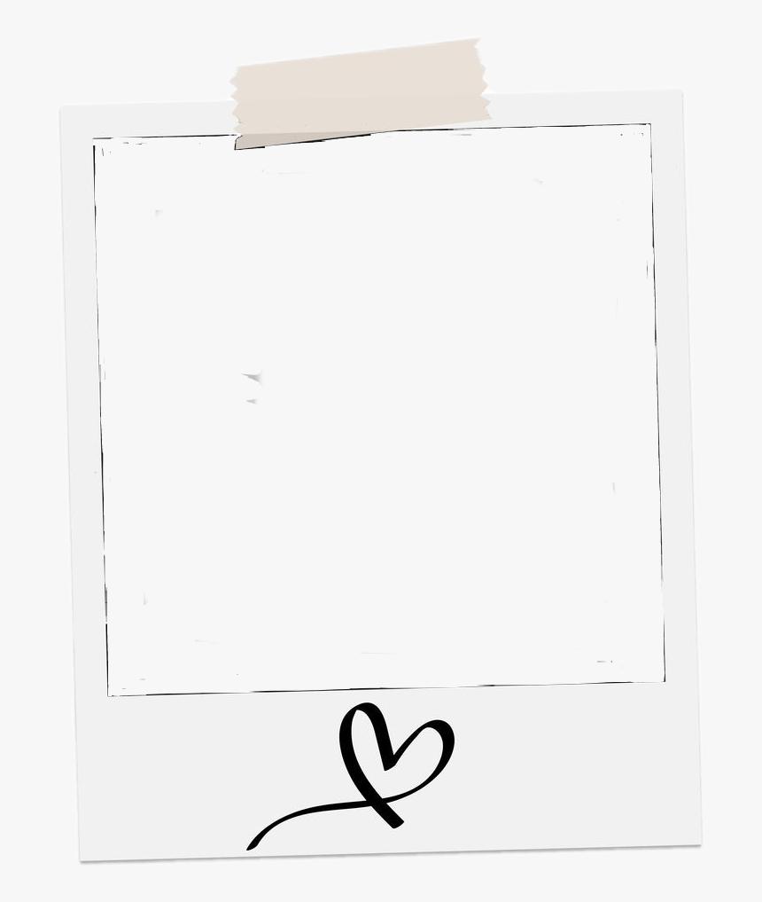 Polaroid Frame Love Heart Photo Picture White Single