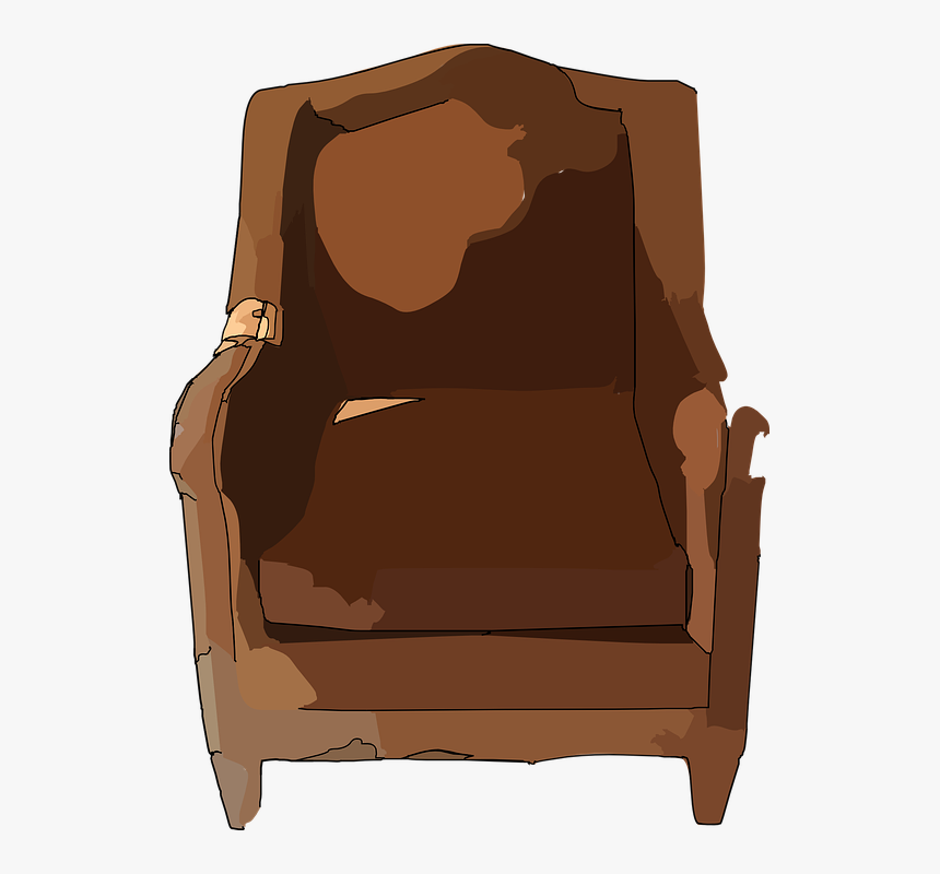Chair Furniture Seat Leather Brown Sofa Couch Broken