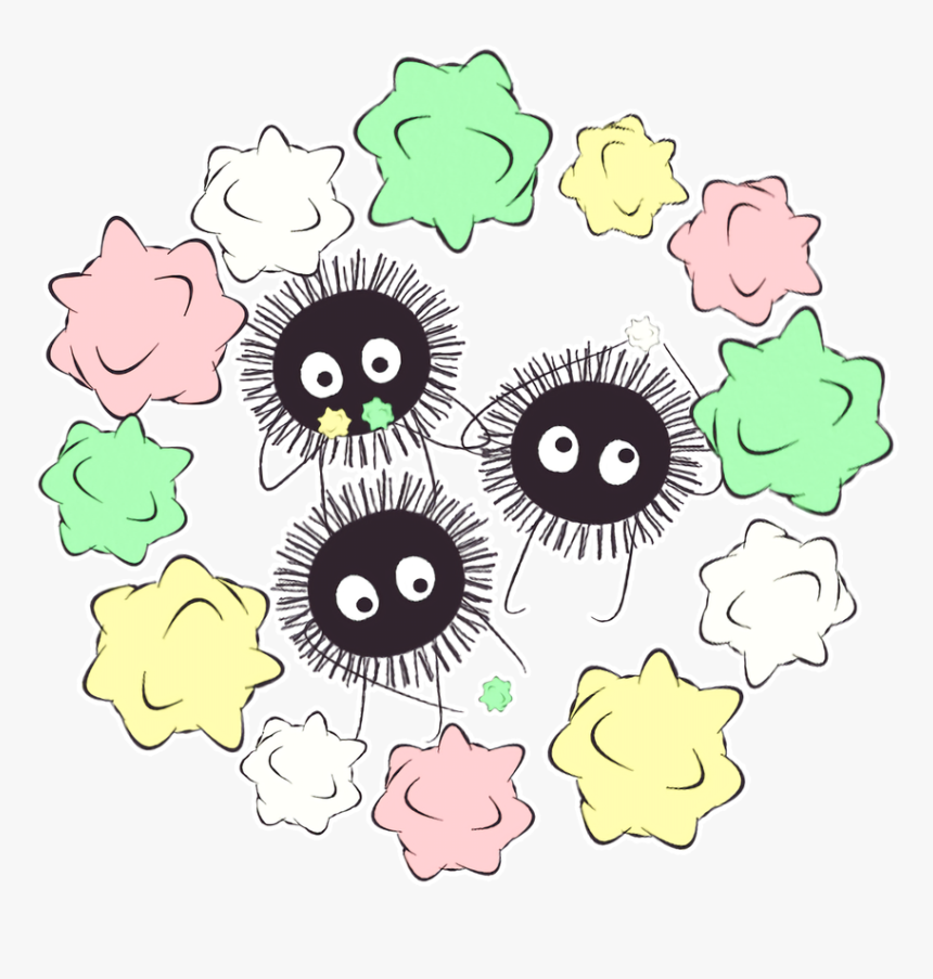 Soot Sprites And No Face From Spirited Away Look At Hd Png Download Transparent Png Image Pngitem