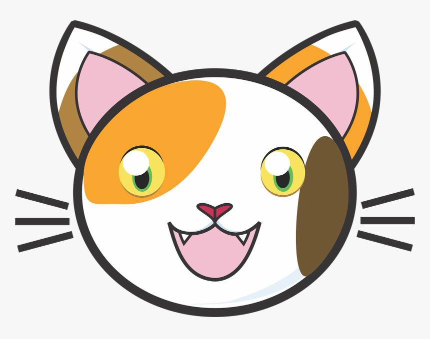 Calico Cat 1732371 Cute Cartoon Cat Face Hd Png Download Transparent Png Image Pngitem