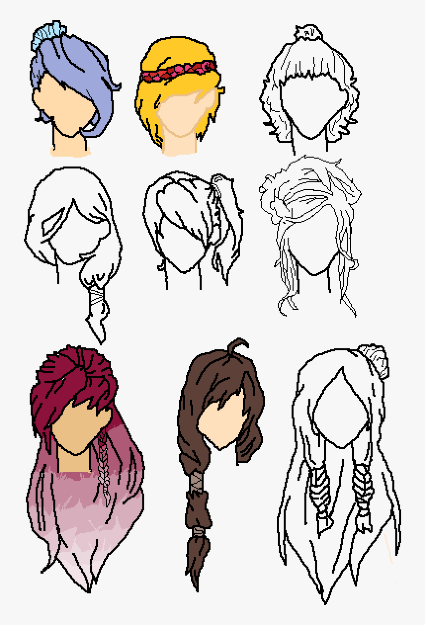 Female Hair Drawing Base Hd Png Download Transparent Png Image Pngitem Download files and build them with your 3d printer, laser cutter, or cnc. female hair drawing base hd png