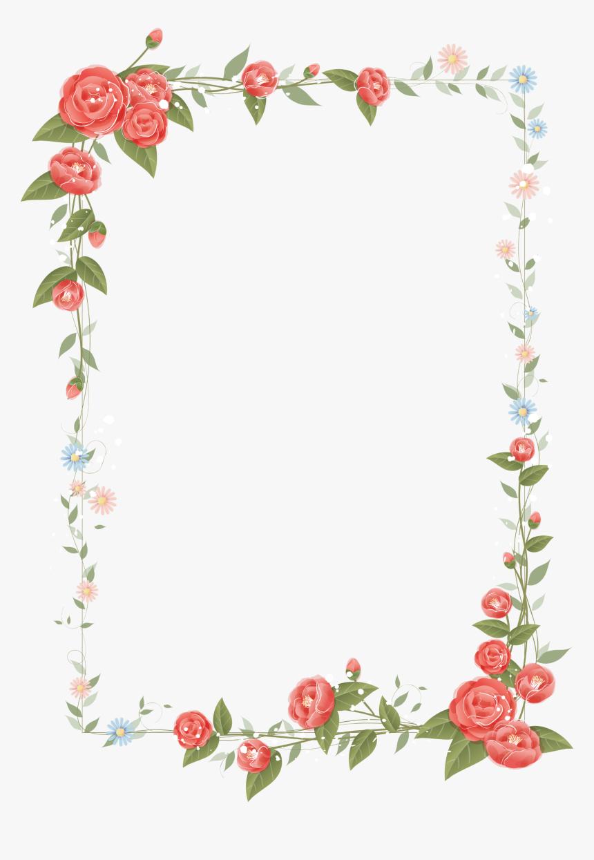 Border Flowers Drawing Clip Art Border Design Png Flower Transparent Png Transparent Png Image Pngitem