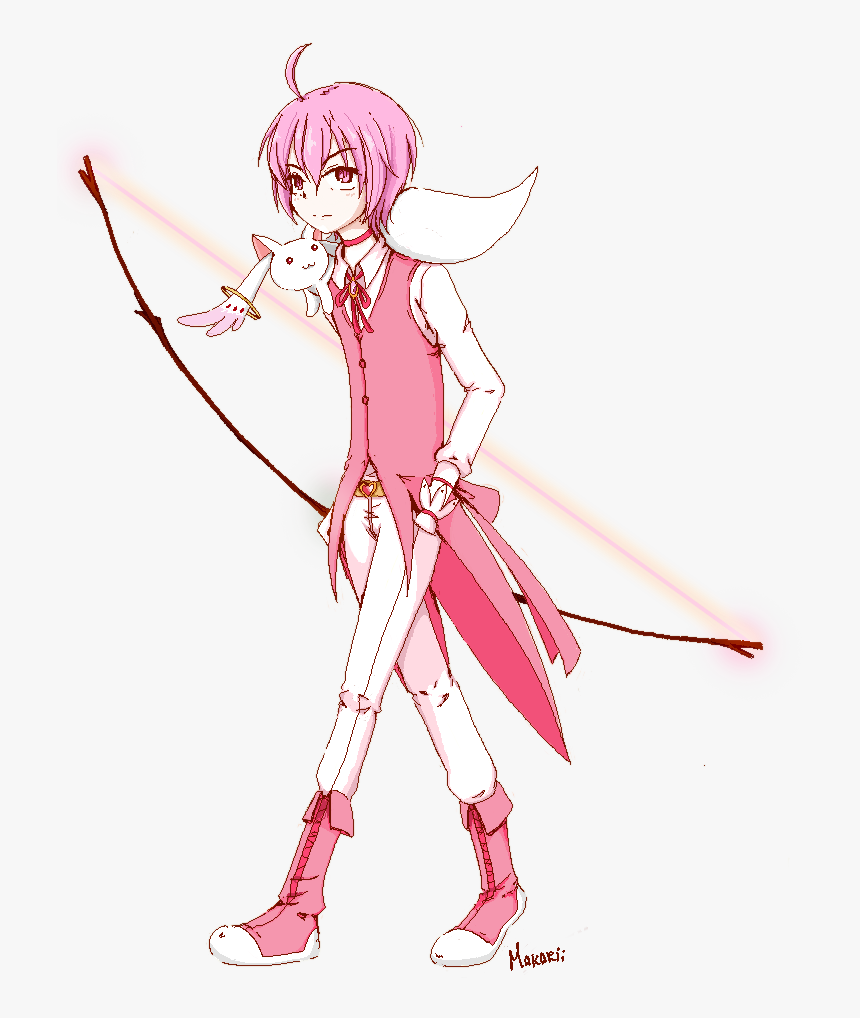 Kaname Madoka Kaname Madou And Kyubey Drawn By Bnha Hero Costumes Oc Male Hd Png Download Transparent Png Image Pngitem