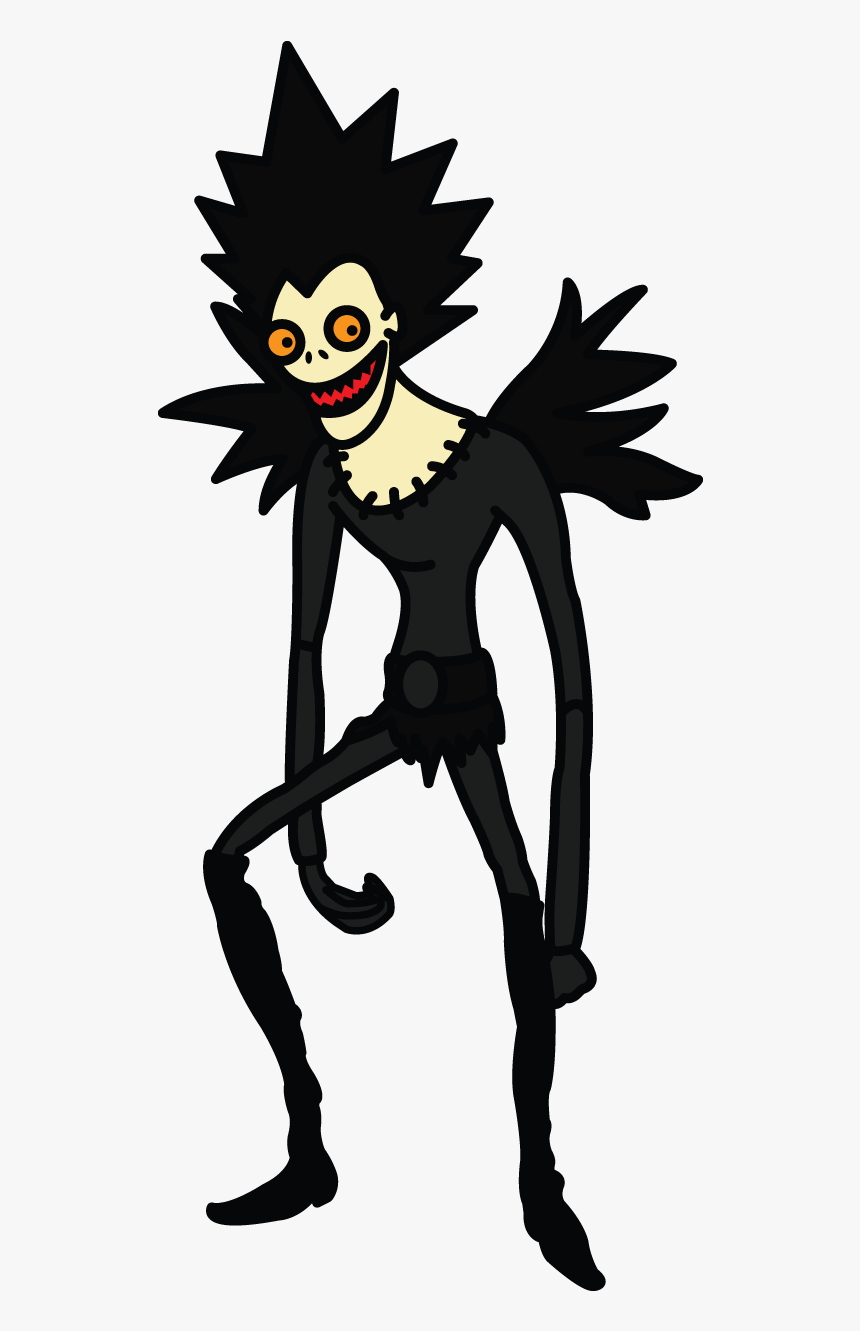 How To Draw Ryuk From Death Note Manga Easy Step Hd Png