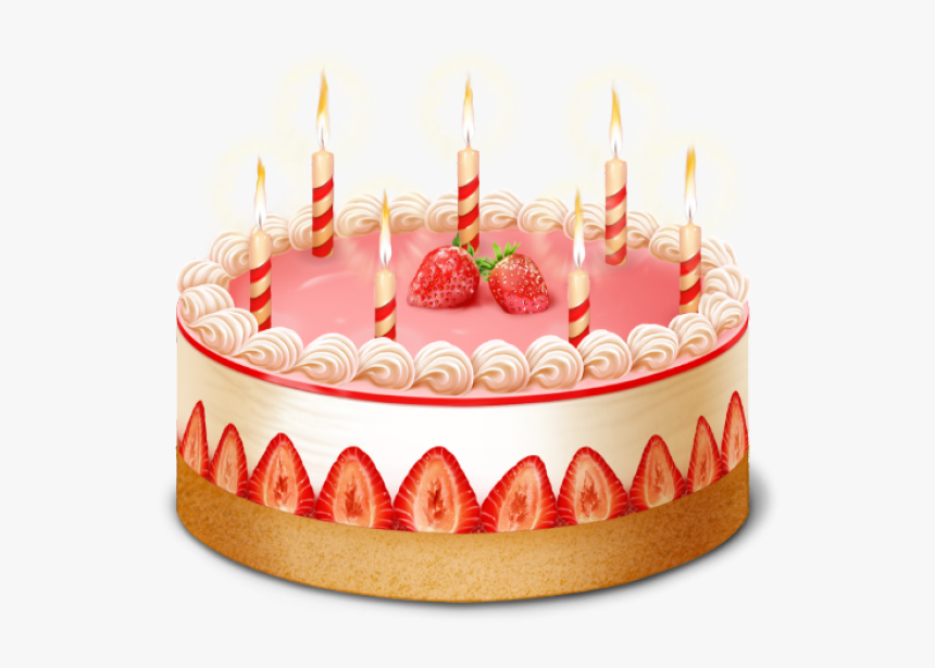 Amazing Candle Strawberry Cake Free Clipart Download Hd Png Download Funny Birthday Cards Online Necthendildamsfinfo