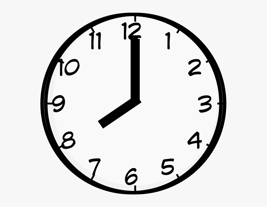 Clock Drawing Repair For Free Download - Eight O Clock Clipart, HD ...