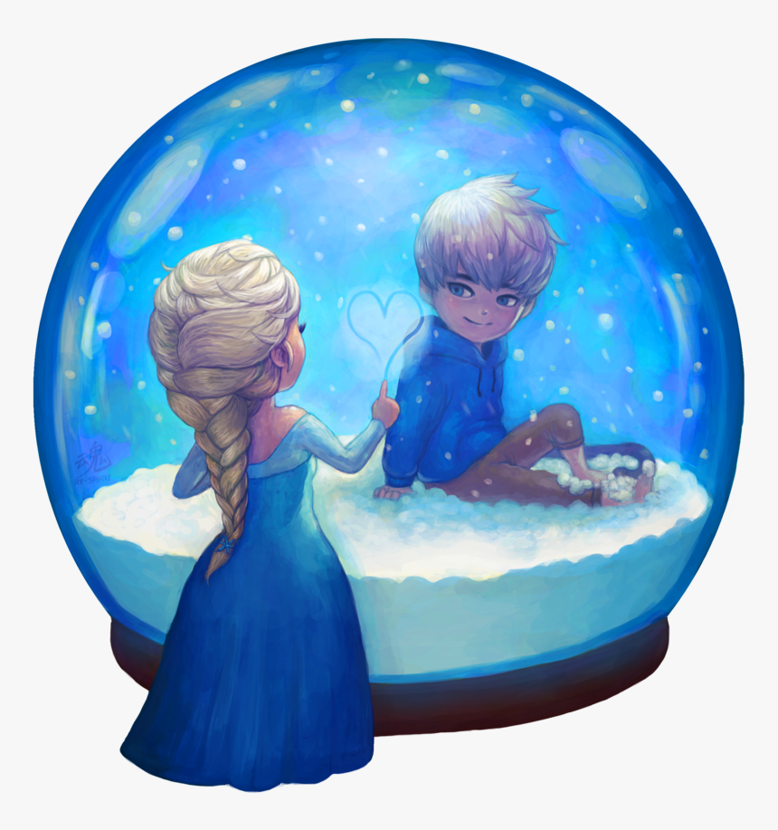 Frozen Images Elsa And Jack Frost Hd Wallpaper And Jack Frost And Elsa Anime Hd Png Download Transparent Png Image Pngitem