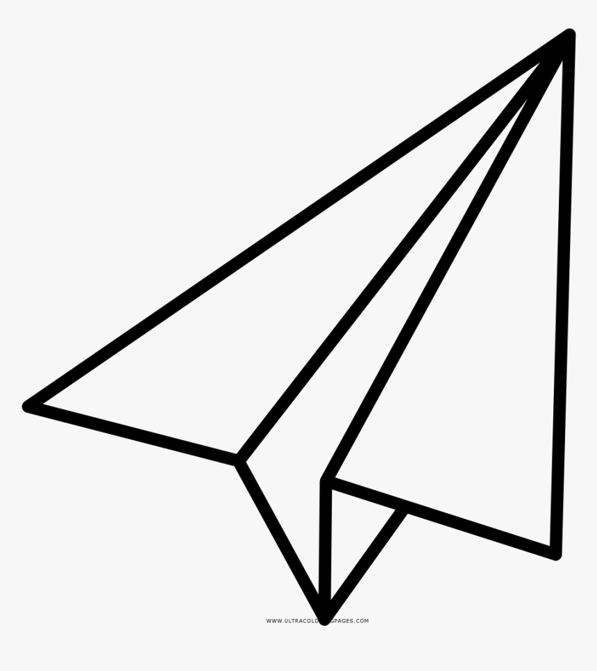 Paper Airplane Coloring Page Transparent Cartoons Paper