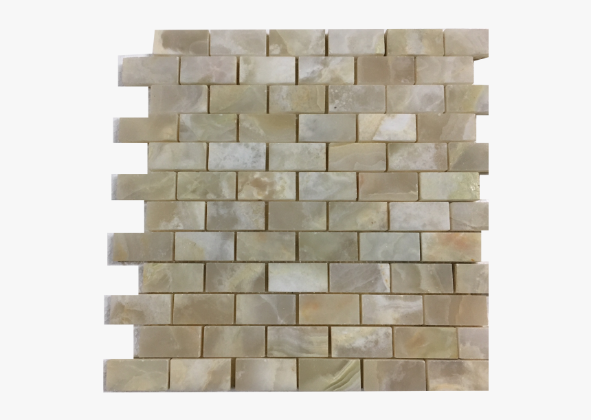 White Onyx Polished Mesh Mounted Mosaic