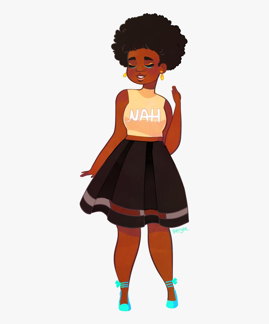 Clipart black girl afro Peekaboo Girl