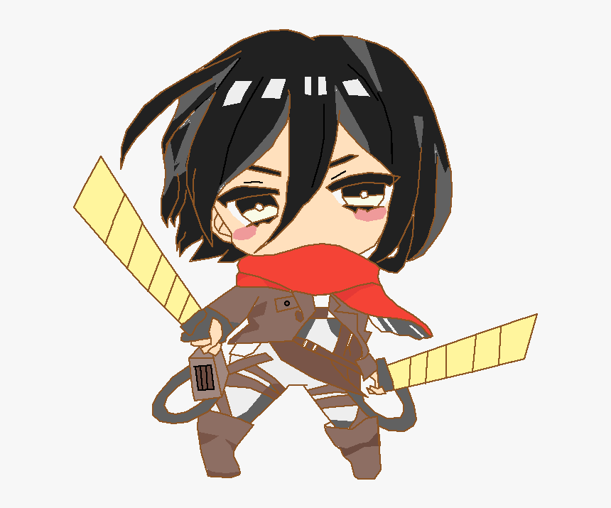 Attack On Titan Fanart Mikasa Chibi Hd Png Download