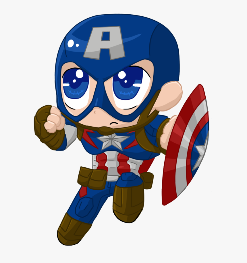 Leader Clipart Superhero - Baby Captain America Cartoon ...