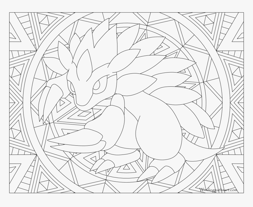Pikachu Coloring Pages Adult , Png Download, Transparent Png ...