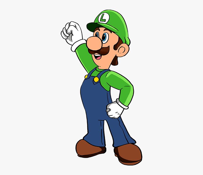 How To Draw Luigi From Super Mario Bros Super Mario Bros