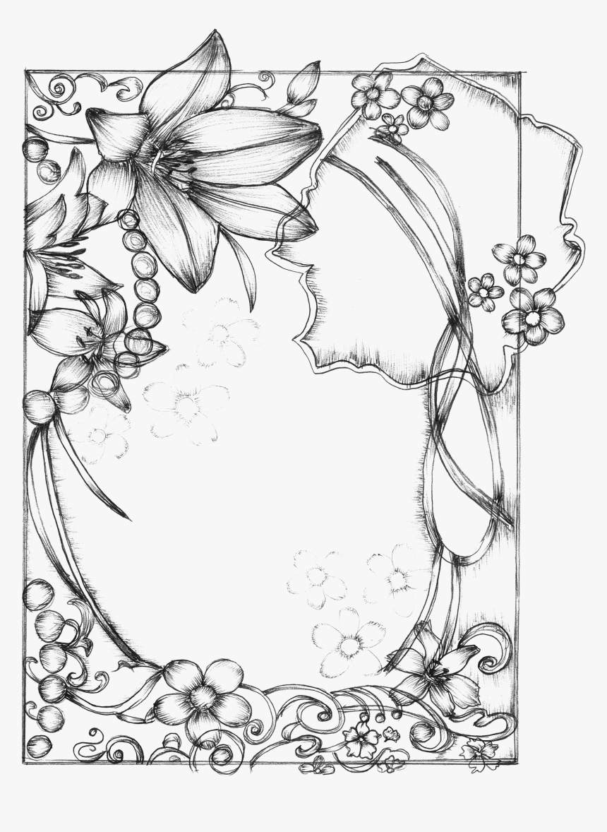 Clip Art How To Draw A Border Flower Design Drawing Hd Png Download Transparent Png Image Pngitem