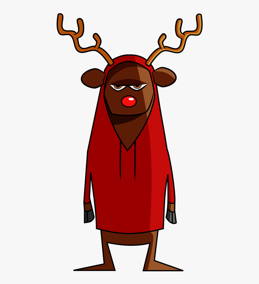 rudolph the red nosed reindeer clipart outline cartoon hd png download transparent png image pngitem pngitem