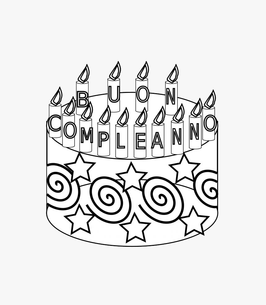 Prime Compleanno Happy Birthday Cake Black White Line Art 25 Cake Funny Birthday Cards Online Elaedamsfinfo