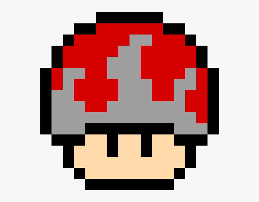 Mario Mushroom Pixel Art Hd Png Download Transparent Png Image