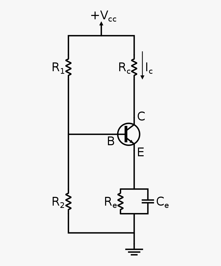 fixed circuit diagram transparent white divider line png fixed bias circuit diagram  fixed bias circuit diagram