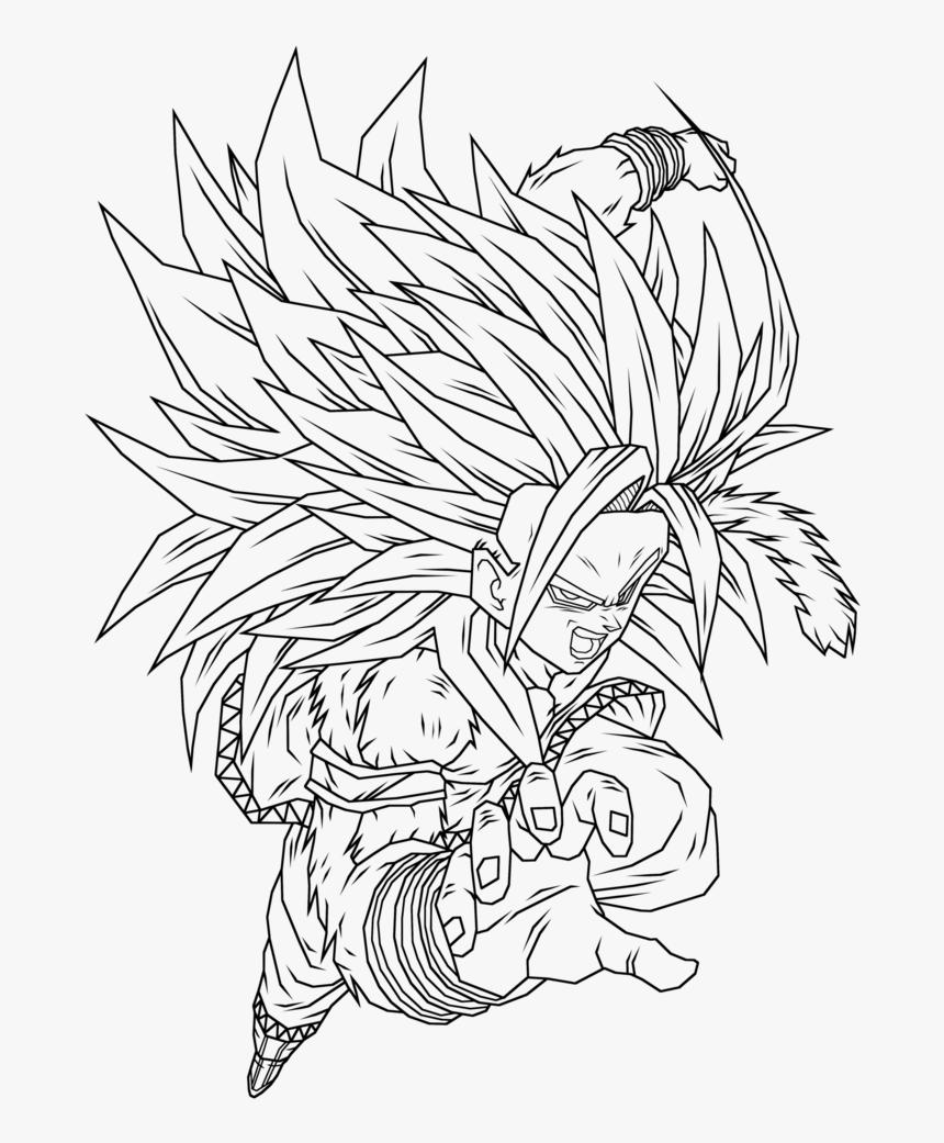 Goku Ssj5 Coloring Pages 3 By Morgan Goku Super Saiyan 5 Drawing Hd Png Download Transparent Png Image Pngitem