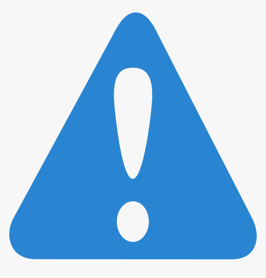 Warning Icon - Blue Attention Sign Png, Transparent Png ...