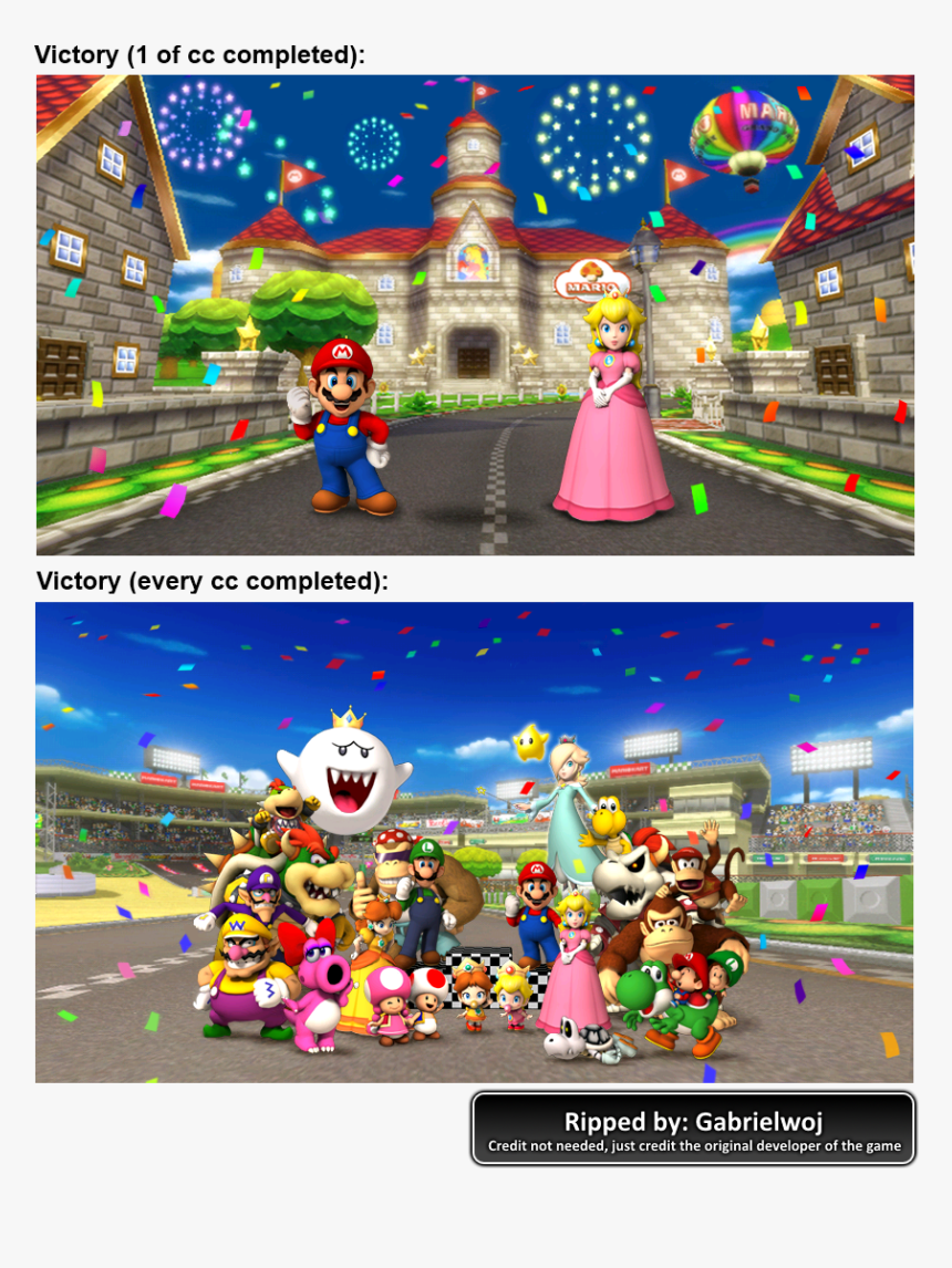 Click For Full Sized Image Victory Screen Mario Kart Wii