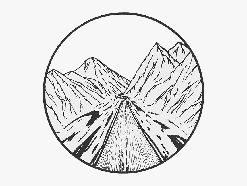 Mountain Boho Travel Indie Aesthetic Drawing Inkfreetoe Aesthetic Black And White Png Transparent Png Transparent Png Image Pngitem